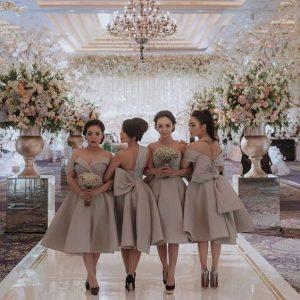 simple plain ankara bridesmaids style