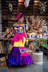 South African ankara wedding style