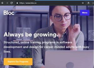 bloc - best web development site for beginners