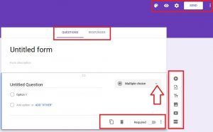 google form field types and options