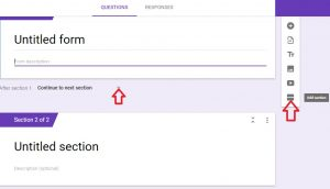 how to add new section to google forms