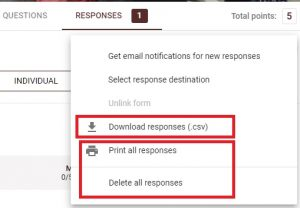 how to download responses