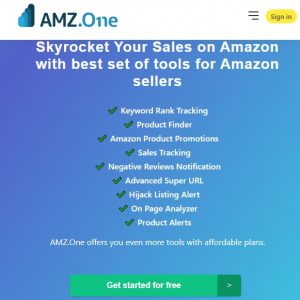 Amz dot One - All in one keyword ranking and research tool for amazon sellers