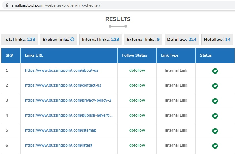 how to check for broken links on your site