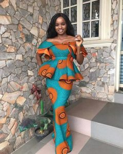 African wedding ankara skirt and blouse style - correctkid