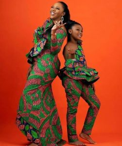 a cute slay with mum in a unique ankara outfit - instagram