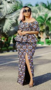 action ladies ankara long skirt and blouse style with sunglasses - the neatstuf