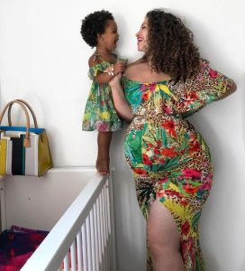 admirable ankara gown for pregnant mum and her young daughter - ykmmedia