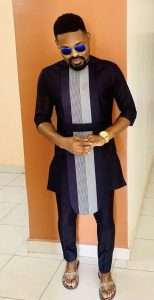 admirable plain ankara senator suit with a hanging long sleeve - pinterest