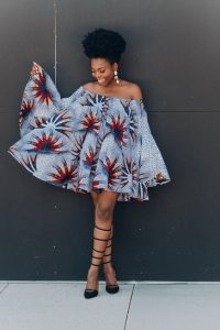african print short easy to wear offshoulder ankara gown - etsy