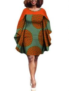 african prints bats wing agbada gown - katscloset-clothingandaccessories