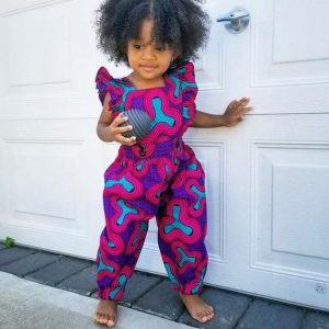 african prints jumpsuit style for kid girls - etsy