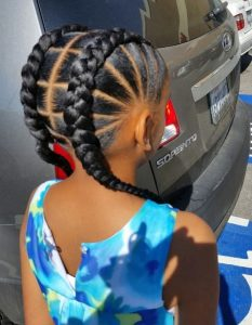 african queens simple braids hairstyle for any occasion - theblessedqueens