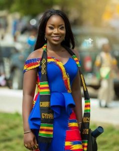 african students ghana fabrics graduation attire with long muffler - africavarsities