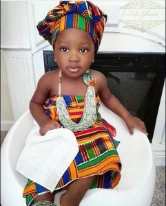african wedding ankara wrapper style for kids - twitter