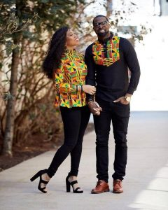 alternating match ankara senator style for couples - blog stylishgwinafrica