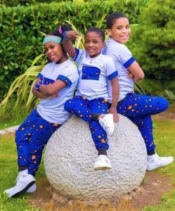 amazing ankara style and pose for three young siblings - bellanaija