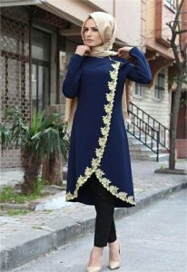 an indian inspired shalwar kameez with plain ankara - brandedgirls