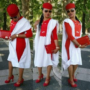 ankara agbada with inner gown with cap and matching heel shoe for ladies - amillionstyles