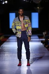 ankara coat with jean trac for guys - africafashionweeknigeria