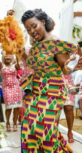 ankara plus kente gown style for african brides - africanfashionandlifestyles