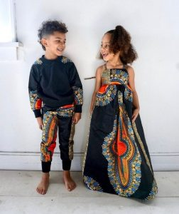 ankara sweater and gown idea for twin boys and girls - etsy