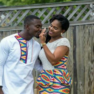 another alternating kente combination style for couples - amzn to