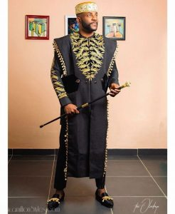 another glamorous ankara agbada style from ebuka - a millionstyles