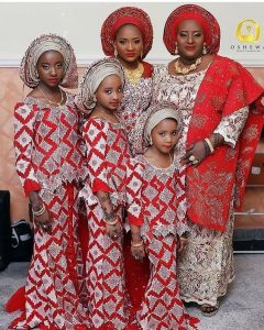 aso ebi ankara lace style for girls and their mum - instagram