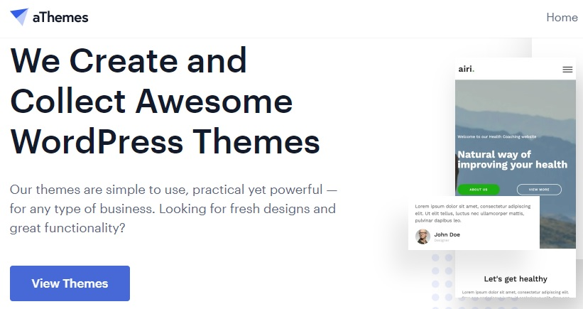 atheme classic templates for wordpress business sites