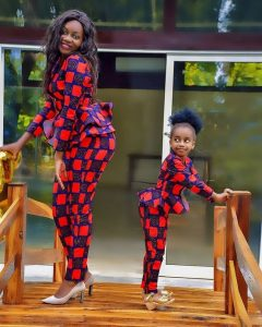 baby girl slays with mum in ankara trouser - instagram