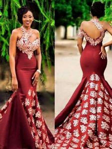 beautiful ankara one shoulder prom gown - zibbet