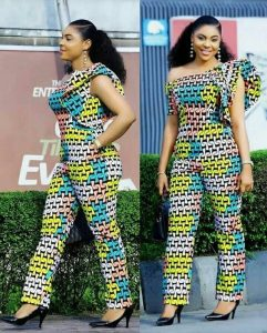 beauty queens one off shoulder african print jumpsuit style - etsy