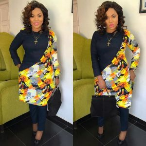 beauty queens plain and pattern ankara senator suit for ladies - instagram