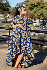 beauty queens stylish ankara maternity gown with a fitting necklace - pinterest