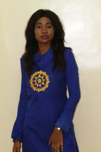 blue long sleeve plain ankara senator with star embroidery design - awalebiz