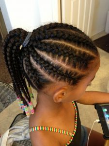 broad natural weave hairstyle for kid girls - pinterest