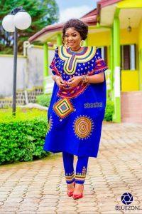 camerron ankara print agbada style for young ladies - mammypi