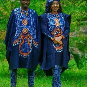 captivating ankara agbada style for couples - clipkulture