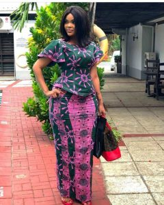 casual outing ankara long skirt and short sleeve blouse - od9jastyles