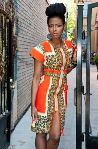 casual short sleeve ankara zipped gown for ladies - flickr