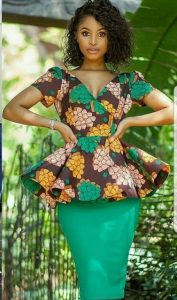 church service ankara skirt and blouse for teen girls - howtobetrendy
