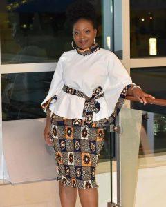 church service ankara skirt and blouse idea - moda ankarafashion top