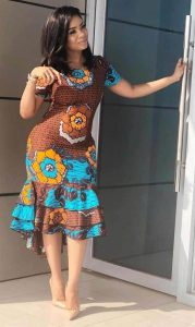 classic ankara short sleeve gown for young queens - africavarsities