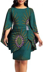 Classy ladies Ankara skirt and blouse style - amazon ca