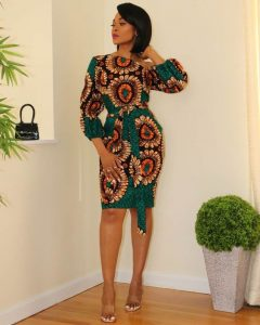 classy queens short ankara dress - ankarainspo wordpress
