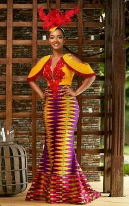 colourful kente gown style for beauty queens - etsy