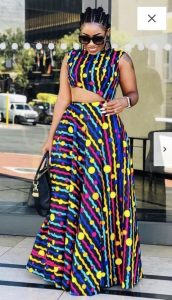 confusing ankara palazzo trousers with a matching crop top - painting theplasticsurgery info