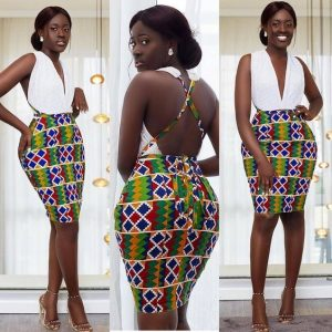 curvy beauty queens kente short show back gown for party - instagram
