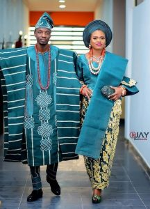 cute ankara agbada style for young couples traditional wedding - instagram